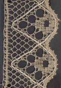 geometric point ground bobbin lace