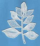 Needle Lace Leaf Spray