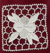 needle lace with bar ground